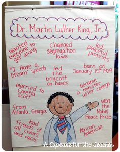 A Cupcake for the Teacher: Martin Luther King, Jr. Anchor Chart.