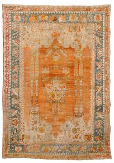 Antique Oushak Rug (Turkish) from Woven Accents #rug #interiordesign #antique