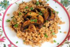 Farro with mushrooms, get the recipe on the blog!