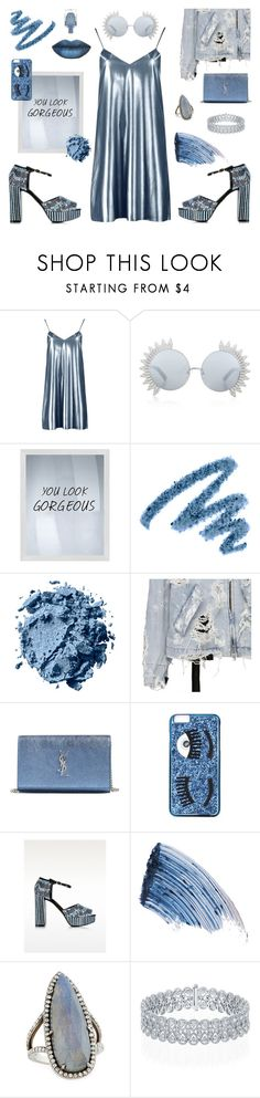 """""""don't. look. down."""" by ell-richards ❤ liked on Polyvore featuring Boohoo, Linda Farrow, PTM Images, Yves Saint Laurent, Chiara Ferragni, Roberto Cavalli, Sisley and Sheryl Lowe"""