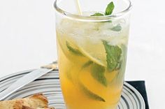 Lemon Mojito!  This enticing cocktail is a refreshing start to any meal. It's a wonderful blend of sweet and sour flavours, highlighted by mint and rum.