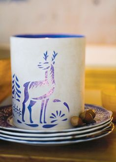 "paper cuts with a ""Norton Deer Scene "" template...Great idea as a gift!"