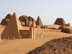 Las pirámides de Meroe en Sudán.