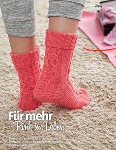 Strickanleitung Socken Zopfsocken Pfirsich Fantastische Strickideen 0416