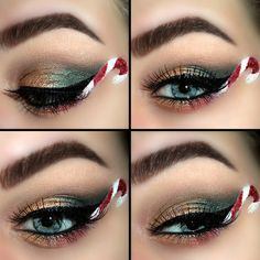 Eye shadow yes. Candy cane.... Nope!