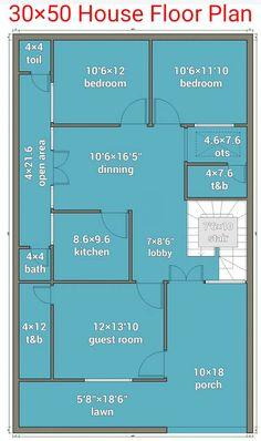 2bhk House Plan, 3d House Plans, Model House Plan, Duplex House Plans, House Layout Plans, Small House Plans, House Layouts, Home Design Plans, Plan Design