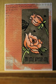 Card made with stamps from Altenew and inktense pencils.