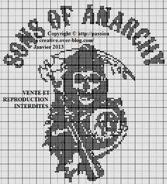 Grille gratuite point de croix : Sons of anarchy