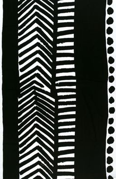 Käki black interior fabric by Marimekko | Curtain fabrics
