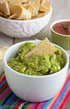 Fresh guacamole, straight from the cafeteria ladies!