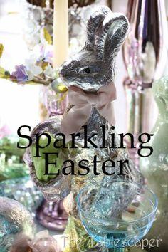 Sparkling Easter Tablescape