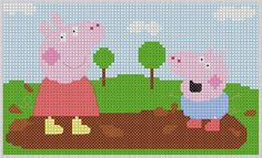 Paomamma: Peppa Pig (cross stitch)