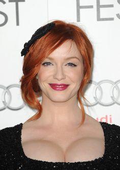 Actress and model Christina Hendricks ...classy american Hairstyles...