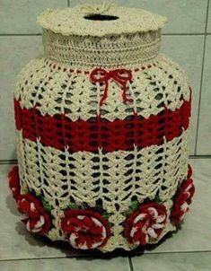 Crochet Box, Crochet Purses, Filet Crochet, Crochet Doilies, Crochet Jar Covers, Mason Jar Cozy, Crochet Kitchen, Lace Knitting, Diy And Crafts
