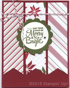 Stampin' Up! Christmas Cards - Lots of Joy stamp set and Merry Moments DSP - Sue Miller Stampin Stamped Christmas Cards, Homemade Christmas Cards, Stampin Up Christmas, Christmas Cards To Make, Noel Christmas, Xmas Cards, Homemade Cards, Holiday Cards, Handmade Christmas