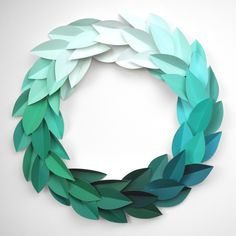 Just love this ombre paint chip wreath.