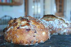 Cranberry Orange Almond Bread...Baked in a Cast Iron Enamel Pot. (Le Crueset)