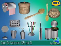 "Corporation ""SimsStroy"": The Sims 4. Decor for Bathroom IKEA set 01"