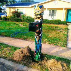 Merman tiki mailbox by Luna Tikis