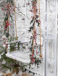 Snow Covered Wooden Swing For Christmas Photography Backdrop backdrops Christmas Photo Booth Backdrop, Christmas Photography Backdrops, Christmas Backdrops, Christmas Background Photography, Christmas Photo Background, Christmas Portraits, Holiday Photography, Outdoor Christmas, Christmas Diy