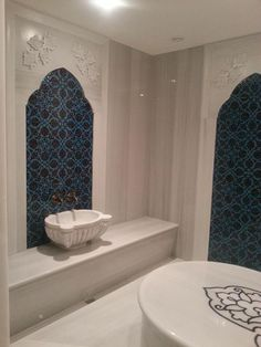 Turkish Bath with White marble