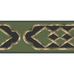 Bamboo Frame Wallpaper Border, Green