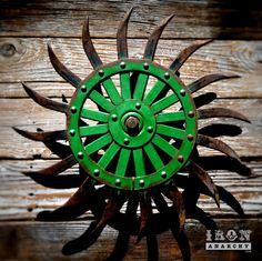 Spinning antique industrial gear decor on IronAnarchy.com See video: https://youtu.be/Dh9pZ_UHLRg