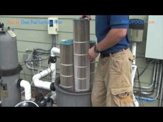 How To: Clean a Pool Cartridge Filter Pool Cleaning Tips, Cleaning Equipment, Solar Pool Heater, Pool Care, Swiming Pool, Pool Filters, Relief Valve, Above Ground Swimming Pools, Pool Maintenance
