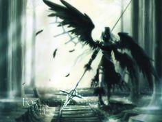 Anime Original  Anime Wings Weapon CGI Gothic Wallpaper
