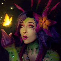 Charming Neeko (League of Legends) brand new champion cosplay by cute 😍 . Champions League Of Legends, Lol League Of Legends, Helen Stifler, Make Up Test, Demon Art, New Champion, Face Design, Mermaid Art, Cosplay Costumes