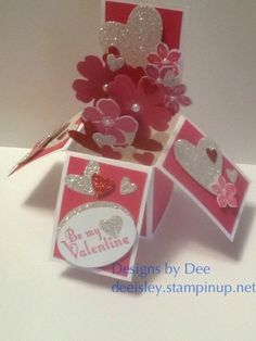 Card in a Box by deesunshine - Cards and Paper Crafts at Splitcoaststampers Card In A Box, Pop Up Box Cards, Card Boxes, Exploding Box Card, Valentine Love Cards, Creation Deco, Mini Albums, Fancy Fold Cards, Card Tutorials
