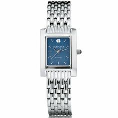 """Yes please...UNC Women's Swiss Watch - Blue Quad Watch with Bracelet by M.LaHart & Co.. $299.00. Three-year warranty.. Swiss-made quartz movement with 7 jewels.. Classic American style by M.LaHart. Officially licensed by University of North Carolina. Attractive M.LaHart & Co. gift box.. University of North Carolina women's steel watch featuring UNC logo at 12 o'clock and """"Carolina"""" inscribed below on the blue dial. Swiss-made quartz movement with 7 jewels. Blue dial with hand-applied, fa..."""
