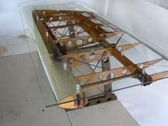 Custom Bi Plane Desk by michael rosentrater, via Behance. Gah! Yes please!