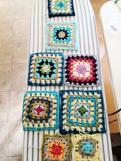 Blocking - I've never done this but I imagine it makes a huge difference when assembling your afghan! Totally trying it next time!