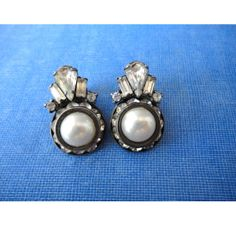Wedding Clip On Earrings  Pearls and by JustSmashingDarling, $19.00