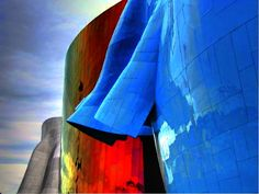 The Experience Music Project building in Seattle, WA