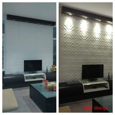 Credenza tv + wall muralief decoration