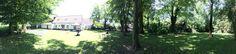 Vin d'honneur dans le jardin de la Cense de Lalouette
