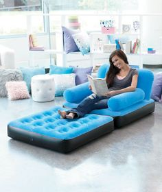 New single double inflatable blow up sofa couch camping gaming