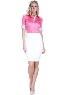 camisa manga curta exclusiva social feminina principessa sineide tecido fio  egipcio look completo Camisa Feminina 337ea2c3f8a