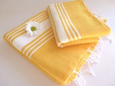 Natural Turkish BATH and Head Towel Set Handmade by TheAnatolian, $39.50