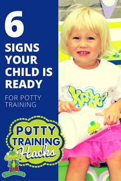 Wondering when to start potty training your children? Here are six signs that your child is ready to start using the potty. More info: Toddler Potty Training, Disposable Diapers, Raising Boys, Toddler Preschool, Train Hard, Training Tips, Parenting Hacks, Your Child, Signs