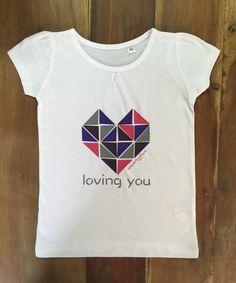 """Camiseta  Niña """"Loving you"""", corazón, heart, Smartyfun"""