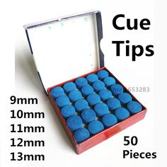 Billiards Cue Tips 50 pieces 9mm10mm11mm12mm13m; made in china #Affiliate
