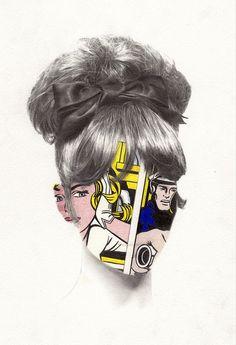 Héroïnes by Nabil Nezzar, via Behance.
