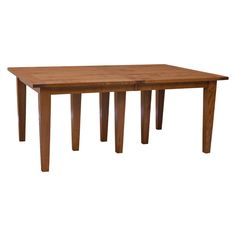 """This 48""""x 72"""" Amish Frontier Dining Table w/ 10-Leaves boasts an unparalleled level of craftsmanship in handmade furniture. This is constructed by skilled Amish craftsmen using solid Character ¼ sawn White Oak and beautifully finish in the OCS 113(shown).   Notice the Bread Board Top design? A """"Bread-Board"""" top is constructed with end caps finger jointed and doweled onto the ends of the table tops. This is as in the finger grip on a kitchen bread board pull out. And lastly, marvel at the…"""