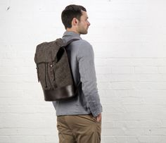 Cherchbi Black Sail Rucksack, brown Herdwyck tweed
