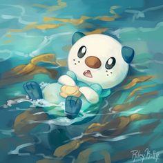 rileykitty: Oshawott goes with the flow My other favorite water type starter! Pokemon Real, Water Type Pokemon, First Pokemon, Pokemon Special, Pokemon Comics, Pokemon Fan Art, Cute Pokemon, Digimon, Pokemon Painting