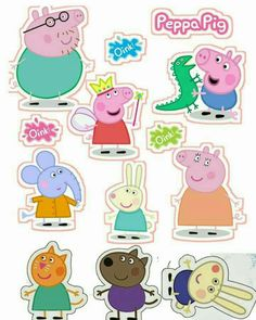 Pin the Tail on Peppa Game Peppa Pig is a United kingdom preschool lively television Bolo Da Peppa Pig, Cumple Peppa Pig, Peppa Pig Birthday Cake, Baby Birthday, Peppa Pig Stickers, Cartoon Stickers, Peppa Pig Imagenes, Peppa Pig Printables, Pig Party