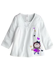 Выкройка блузки для девочки на возраст от 2 до 9 лет